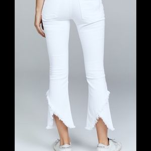 COH Drew Fray High rise crop optic white
